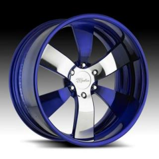 RACELINE WHEELS  TRI-STAR PURPLE RIM with POLISHED FINISH
