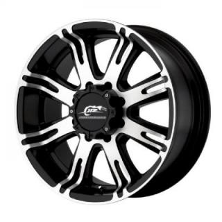 SPECIAL BUY WHEELS  DJ708 BLACK MACHINED