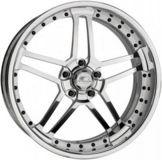 BILLET SPECIALTIES WHEELS  PRO-TOURING DRAFT POLISHED RIM with SATIN SPOKE ACCENTS