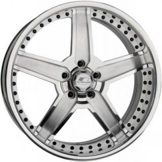 BILLET SPECIALTIES WHEELS  PRO-TOURING PATRIOT POLISHED RIM with SATIN SPOKE ACCENTS