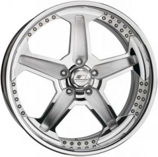 BILLET SPECIALTIES WHEELS  PRO-TOURING THROTTLE POLISHED RIM with SATIN SPOKE ACCENTS