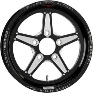 BILLET SPECIALTIES WHEELS  COMP 5 1PC BOLT-ON BLACK RIM