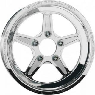 BILLET SPECIALTIES WHEELS  COMP 5 1PC BOLT-ON POLISHED RIM