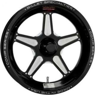 BILLET SPECIALTIES WHEELS  COMP 5 1PC SPINDLE BLACK RIM