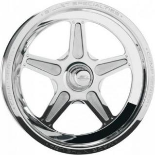 BILLET SPECIALTIES WHEELS  COMP 5 1PC SPINDLE POLISHED RIM