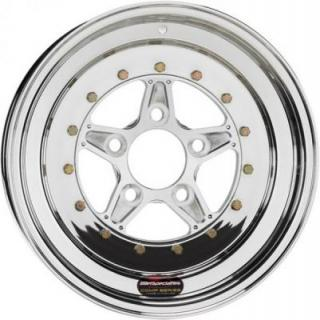 BILLET SPECIALTIES WHEELS  COMP 5 2PC FRONT POLISHED RIM