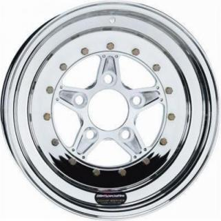 BILLET SPECIALTIES WHEELS  COMP 5 2PC REAR POLISHED RIM
