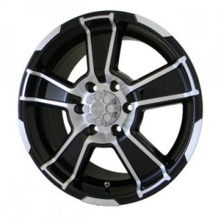 GFX WHEELS  DESERT EAGLE GLOSS BLACK RIM with MACHINED FACE