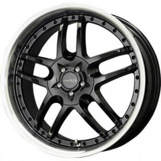 LIQUID METAL WHEELS  CORE GLOSS BLACK RIM with MACHINED LIP
