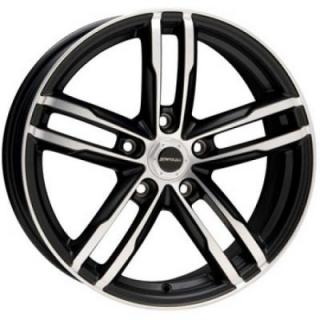 LIQUID METAL WHEELS  CURVE BLACK RIM with MACHINED FACE