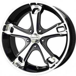 LIQUID METAL WHEELS  DYNO 5 BLACK RIM with MACHINED FACE