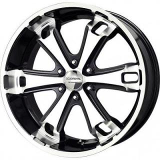 LIQUID METAL WHEELS  DYNO 6 BLACK RIM with MACHINED FACE