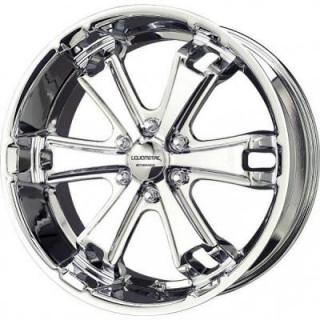 LIQUID METAL WHEELS  DYNO 6 CHROME RIM