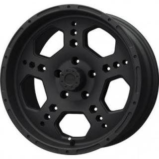LIQUID METAL WHEELS  GATLIN MATTE BLACK RIM