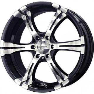 LIQUID METAL WHEELS  MAGMA BLACK RIM with MACHINED FACE
