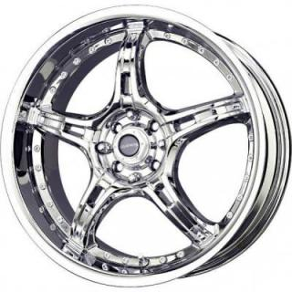LIQUID METAL WHEELS  MERKUR CHROME RIM