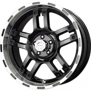 LIQUID METAL WHEELS  RHINO BLACK RIM with MACHINED LIP