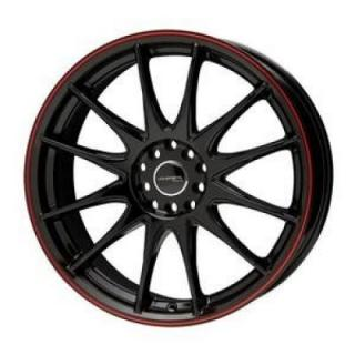 LIQUID METAL WHEELS  SPEEDSTER BLACK RIM with RED STRIPE