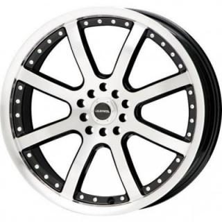 LIQUID METAL WHEELS  STINGER BLACK RIM with MACHINED FACE