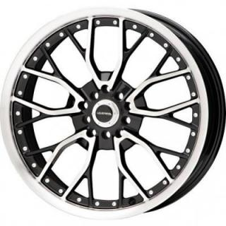 LIQUID METAL WHEELS  WIRE BLACK RIM with MACHINED FACE