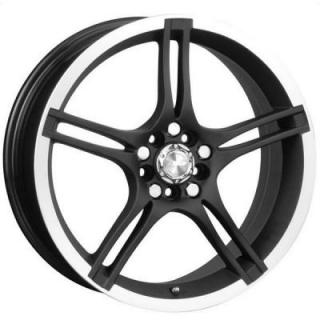 SPEEDY WHEELS  FUSION BLACK RIM with MACHINED LIP