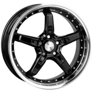 SPEEDY WHEELS  INFERNO BLACK RIM with MACHINED LIP