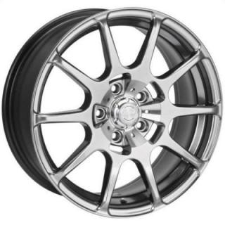 SPEEDY WHEELS  LITE 10 HYPER DARK SILVER RIM