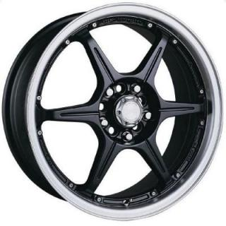 SPEEDY WHEELS  LITE 6 BLACK RIM with MACHINED LIP