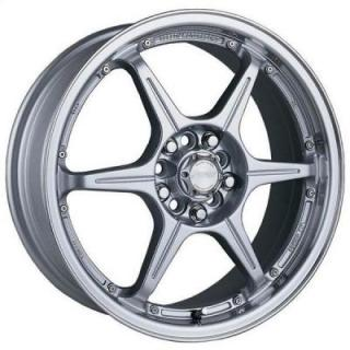 SPEEDY WHEELS  LITE 6 SILVER RIM with MACHINED LIP