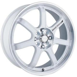 SPEEDY WHEELS  LITE 7 WHITE RIM with MACHINED LIP