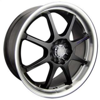 SPEEDY WHEELS  LITE 8 BLACK RIM with MACHINED LIP
