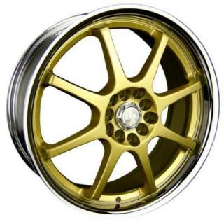 SPEEDY WHEELS  LITE 8 GOLD RIM with CHROME LIP