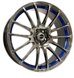 SPEEDY WHEELS  LITE FIN BLACK MACHINED RIM with BLUE UNDERSTRIPE