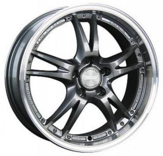 SPEEDY WHEELS  VERTEC VR5 GUNMETAL RIM with MACHINED LIP