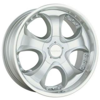 SPEEDY WHEELS  VICTORY SILVER RIM with MACHINED LIP