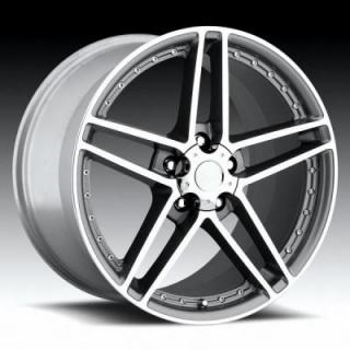 FACTORY REPRODUCTIONS WHEELS  CORVETTE C6 MOTORSPORT Z06 MACHINED/GREY RIM