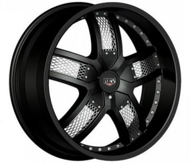 REV WHEELS  RWD STREETER 867 BLACK/CHROME MESH INSERT RIM