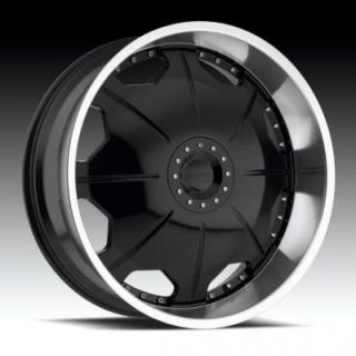 STRADA WHEELS  MIRROR BLACK MACHINED RIM