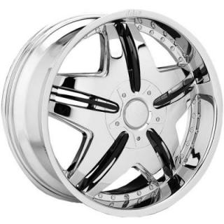 DOLCE WHEELS  DC24 CHROME WHEEL
