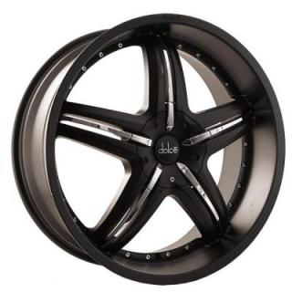 DOLCE WHEELS  DC26 MATTE BLACK WHEEL