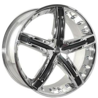 DOLCE WHEELS  DC30 CHROME RIM with BLACK INSERTS