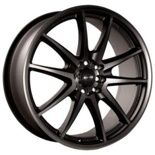 NINJA WHEELS  NJ01 DARK GRAY RIM with MACHINED FACE