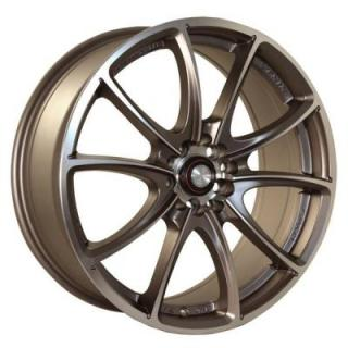 NINJA WHEELS  NJ03 BRONZE RIM with MACHINED FACE