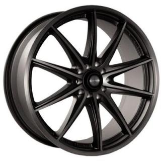 NINJA WHEELS  NJ05 DARK GRAY RIM with MACHINED FACE