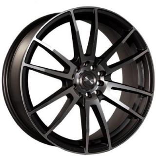NINJA WHEELS  NJ09 DARK GRAY RIM with MACHINED FACE
