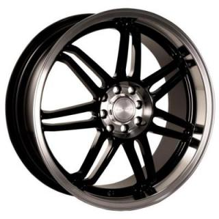KATANA WHEELS  GF7 BLACK RIM with MACHINED LIP