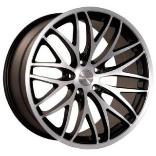 KATANA WHEELS  GTM MATTE BLACK RIM with MACHINED FACE