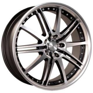 KATANA WHEELS  GT10 MATTE BLACK RIM with MACHINED FACE and LIP