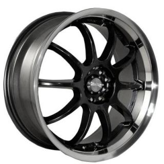 KATANA WHEELS  KS-D BLACK RIM with MACHINED LIP