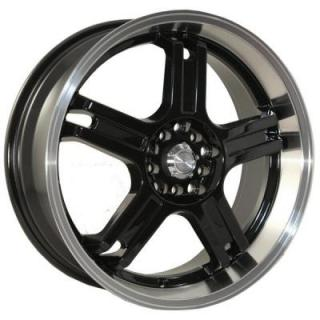 KATANA WHEELS  RZ5 BLACK RIM with MACHINED FACE